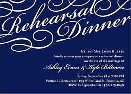 Script Rehearsal Dinner Invitation