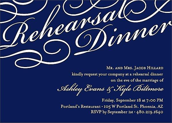 Script Rehearsal Dinner Invitation | Paper Source