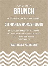 Paper Bag Chevron Brunch Invitation