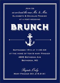 Nautical Wedding Brunch Invitation