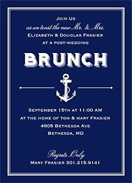 Nautical Wedding Brunch Invitation