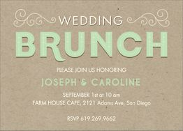Paper Bag Inline Wedding Brunch Invitation
