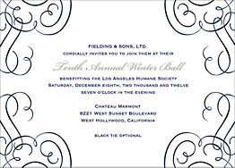 Calligraphy Scrolls Party Invitation