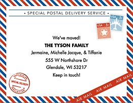 Air Mail Moving Announcement
