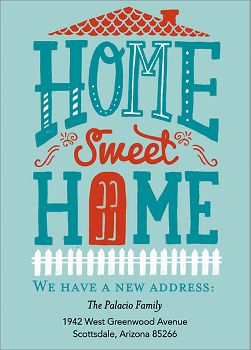 Home Sweet Home Moving Announcement