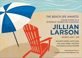 Beach Life Party Invitation