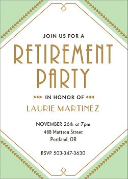 Deco Retirement Party Invitation