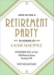 Deco Retirement Party Invitation