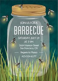 Firefly Jar Party Invitation