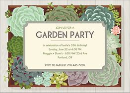 Garden Party Invitation