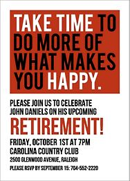 Take Time Retirement Party Invitation