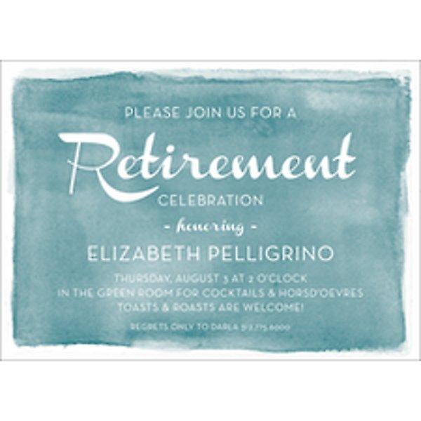 Watercolor Retirement Party Invitation