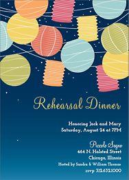 Lanterns Rehearsal Dinner Invitation