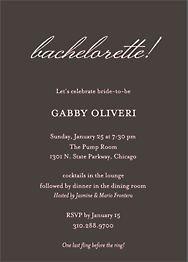 Softhand Type Bachelorette Invitation