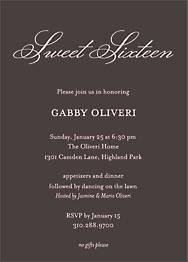Softhand Type Birthday Party Invitation