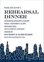 Skyline Rehearsal Dinner Invitation