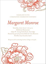 Cottage Bloom Graduation Party Invitation