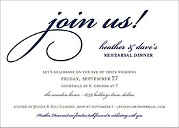 Join Us Rehearsal Dinner Invitation