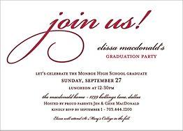 Join Us Graduation Party Invitation