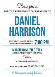Playbill Retirement Party Invitation