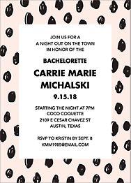 Sketch Dots Bachelorette Party Invitation