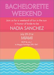 Weekend Sun Bachelorette Party Invitation