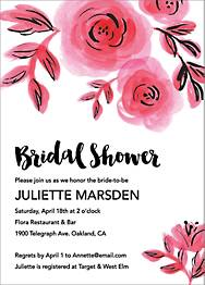 Watercolor Floral Bridal Shower Invitation
