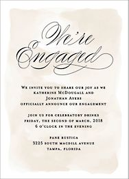 Chateau Engagement Party Invitation
