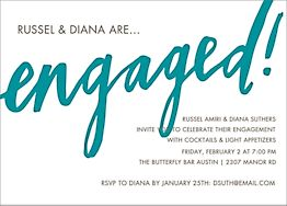 Engaged Script Engagement Party Invitation