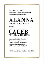 Foil Stamped L'Avenue Engagement Party Invitation