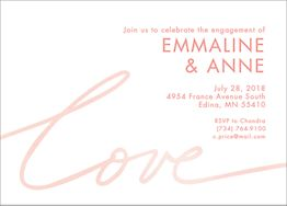 Watercolor Love Engagement Party Invitation