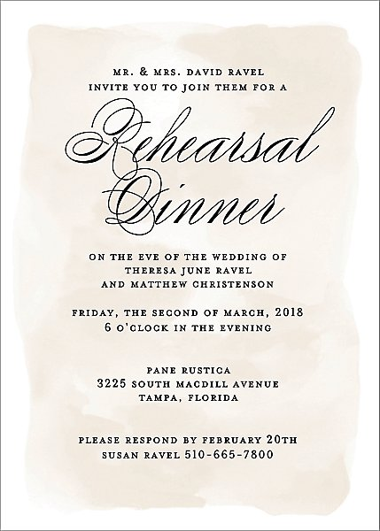 Chateau Rehearsal Dinner Invitation | Paper Source