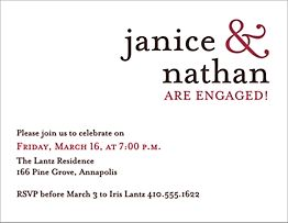 Ampersand Engagement Party Invitation