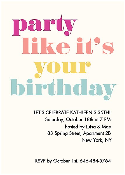 It S Your Birthday Party Invitation