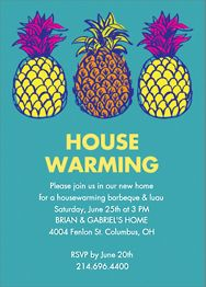 Pineapple House Party Invitation
