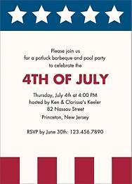 Stars & Stripes Party Invitation