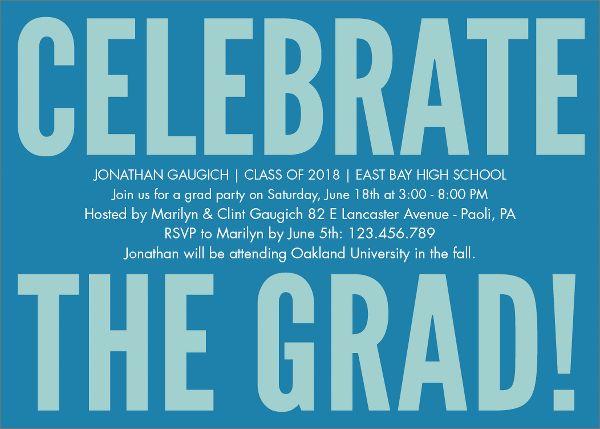 Celebrate Graduation Party Invitation
