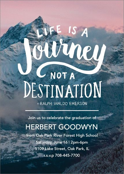 Life Journey Graduation Party Invitation