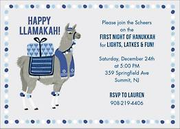 Llamakah Holiday Party Invitation