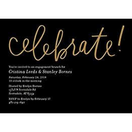 Foil Stamped Celebrate Script Brunch Invitation