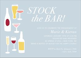 Stock the Bar Engagement Party Invitation