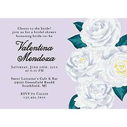 Camelias Bridal Shower Invitation