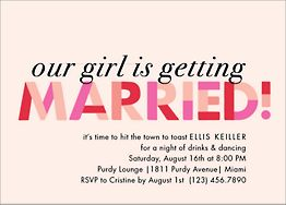 Our Girl is Getting Married Bachelorette Party Invitation