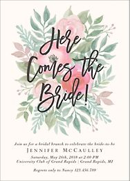 Here Comes the Bride Brunch Invitation