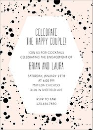 Splatter Frame Engagement Party Invitation