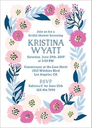 Folk Floral Frame Bridal Shower Invitation