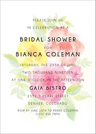 Peony Bridal Shower Invitation