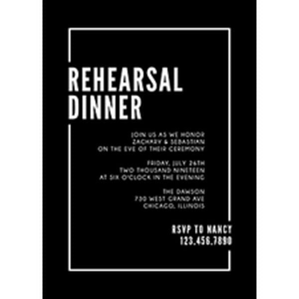 Metropolitan Rehearsal Dinner Invitation