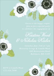 Anenome Blooms Engagement Party Invitation