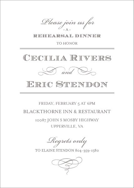 Pearl Rehearsal Dinner Invitation
